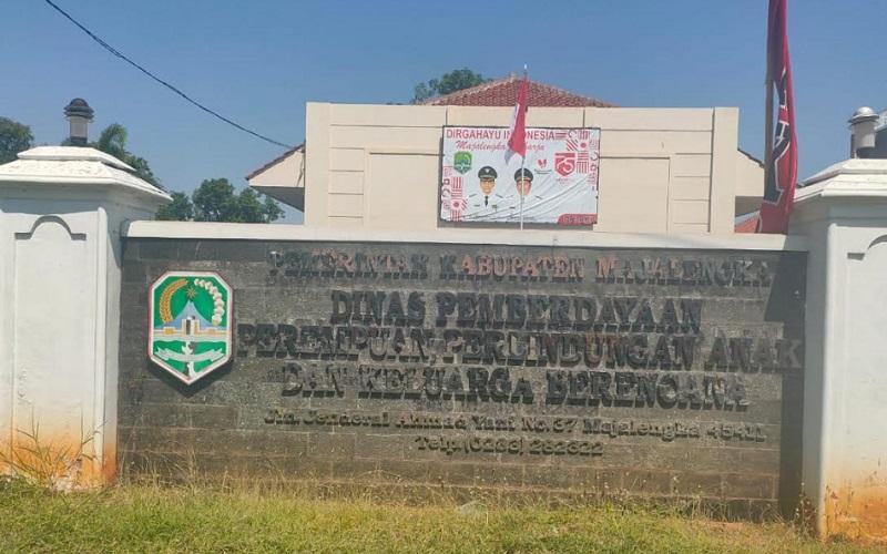 Kantor Dinas Pemberdayaan Perempuan Perlindungan Anak dan Keluarga Berencana (DP3AKB) Kabupaten Majalengka. - Bisnis/Hakim Baihaqi