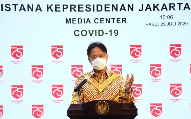 Ketua Satgas Pemulihan dan Transformasi Ekonomi Nasional Budi Gunadi Sadikin memberikan keterangan pers soal program baru bagi UMKM untuk melewati  pandemi Corona di Kantor Presiden, Jakarta, Rabu (29/7/2020). -  Biro Pers Sekretariat Presiden - Lukas
