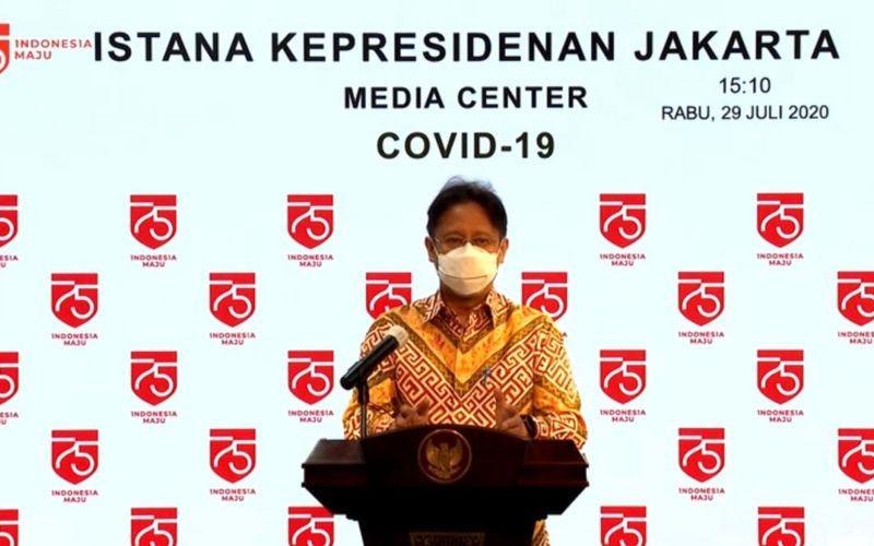 Ketua Satgas Pemulihan Ekonomi Nasional Budi Gunadi Sadikin saat memberikan keterangan pers di Istana Kepresidenan, Jakarta, Rabu (29/7 - 2020) / Youtube Setpres.