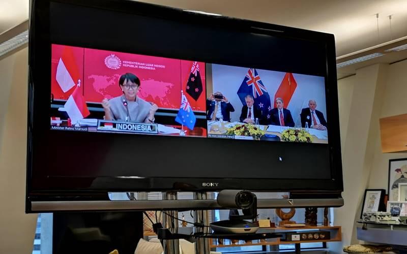 Joint Ministerial Commission (JMC) ke-9 antara Indonesia dan Selandia Baru berakhir pada Rabu (29/07/2020). JMC kali ini dilangsungkan melalui media virtual antara Jakarta dan Wellington. - Istimewa