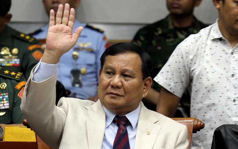 Menteri Pertahanan Prabowo Subianto saat mengikuti rapat kerja dengan Komisi I DPR di kompleks parlemen, Jakarta, Senin (20/1/2020). - Bisnis/Arief Hermawan P