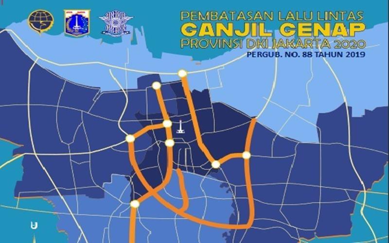 Pemprov DKI dan Ditlantas Polda Metro Jaya kembali menerapkan kebijakan pelat nomor ganjil dan genap di Jakarta pada 3 Agustus 2020. JIBI - Bisnis/Nancy Junita