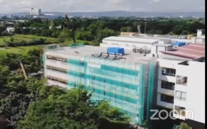 Rumah Sakit Akademik UGM di Yogyakarta. Rumah sakit ini memiliki dua gedung baru yang mampu menampung 107 kasur pasien dengan berbagai fasilitas untuk penanganan Covid-19/ - Kementerian PUPR