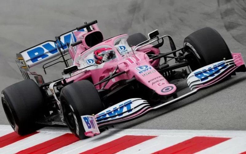Pebalap Racing Point Sergio Perez dengan mobil RP20./Antara - Reuters