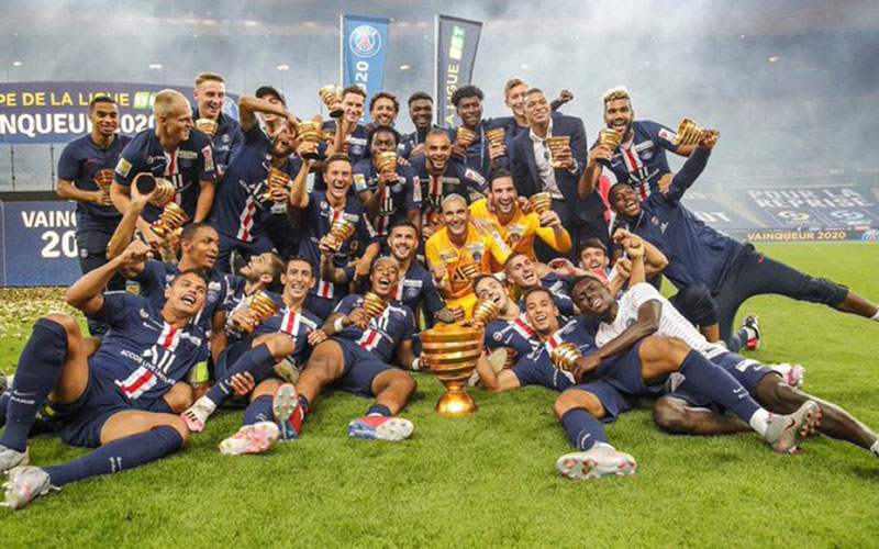 Paris Saint-Germain juara Piala Liga Prancis (Coupe de la Ligue) 2019-2020 - Twitter@PSG_English