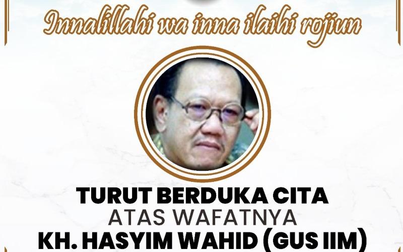 Ucapan bela sungkawa dari Gubernur Jawa Timur Khofifah Indar Parawansa atas berpulangnya KH Hasyim Wahid, adik Gus Dur, yang berpulang Sabtu (1/8/2020) dini hari - Twitter/@KhofifahIP