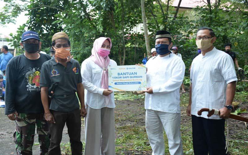 Pupuk Kaltim melalui Badan Pembinaan Umat Islam (BPUI) memotong ratusan hewan kurban pada Iduladha 1441 H. - JIBI/Istimewa.