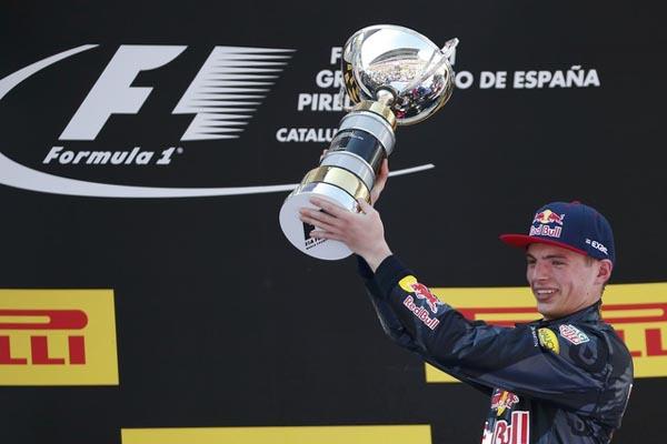 Max Verstappen ketika menjadi juara F1 GP Spanyol 2016 - Reuters