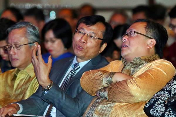 Ekonom Raden Pardede saat sosialisasi dan diskusi visi Indonesia 2045, di Jakarta, Selasa (8/1/2019). - Bisnis/Abdullah Azzam