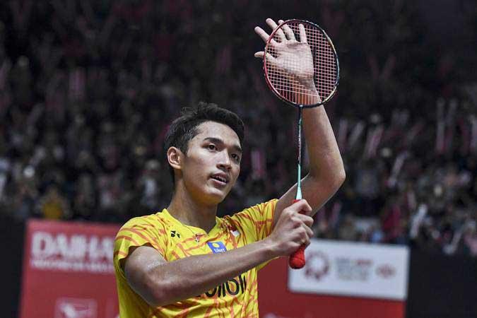 Tunggal putra Indonesia Jonatan Christie yang bakal jadi andalan di Piala Thomas - ANTARA/Hafidz Mubarak A