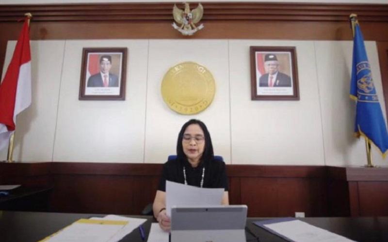 Rektor ITB Prof Reini Wirahadikusumah saat membuka International Conference on Management in Emerging Markets (ICMEM) 2020