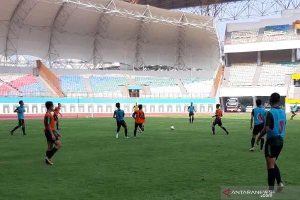 Latihan Timnas U-19 Indonesia. - Antara
