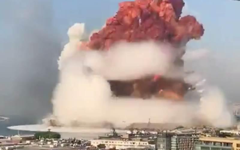 Ledakan dahsyat di Beirut, Lebanon, Selasa (4/8/2020) malam. - theprovince.com