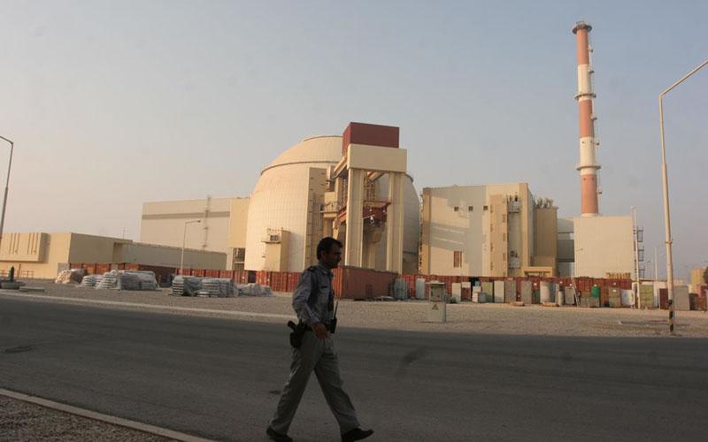 Ilustrasi - Pembangkit listrik bertenaga nuklir di Bushehr, Iran, sekitar 750 kilometer sebelah selatan Teheran./Bloomberg - Mohsen Shandiz