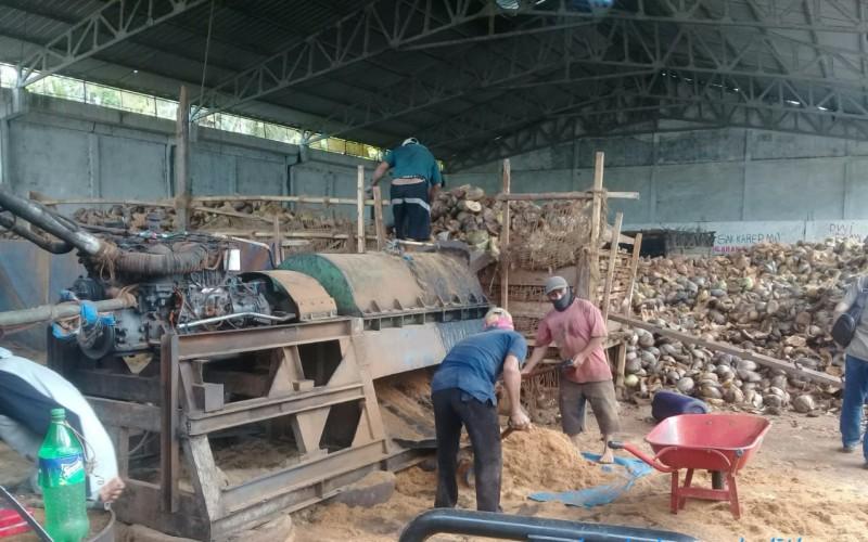 Pabrik pengolahan sabut kelapa di Kabupaten Lampung Timur. - Istimewa