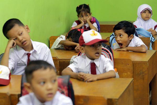 Ilustrasi siswa sekolah dasar. - Antara