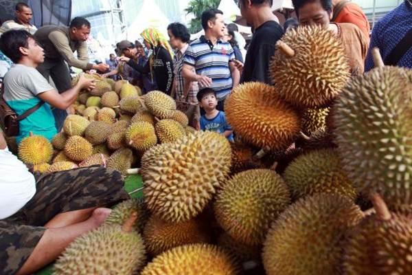 Ilustrasi pedagang durian./Bisnis.com - Abdullah Azzam