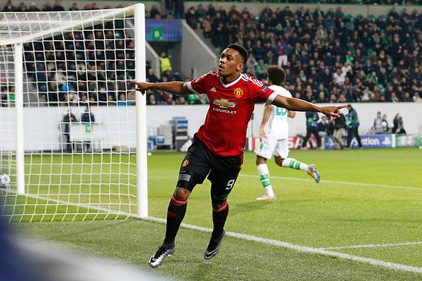 Penyerang Manchester United Anthony Martial - Reuters