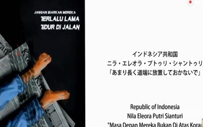 Poster karya Nila Eleora Putri Sianturi berjudul