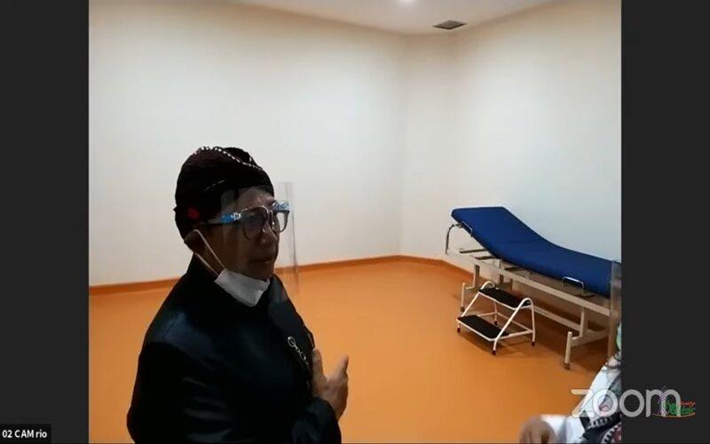 Bupati Blitar Rijanto saat meninjau ruangan di RSUD Srengat, Rabu (5/8 - 2020).
