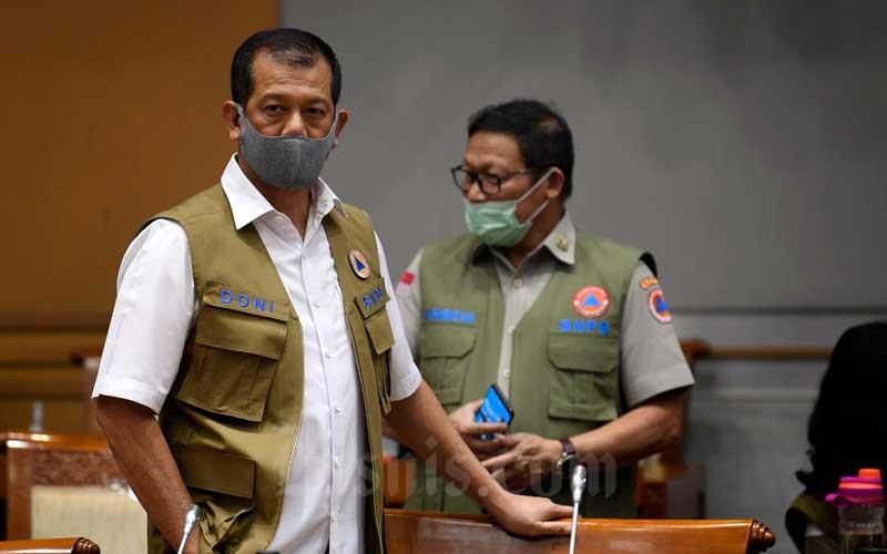 Ketua Satuan Tugas Percepatan Penanganan Covid-19 yang juga Kepala Badan Nasional Penanggulangan Bencana (BNPB) Letjen Doni Monardo  - Antara