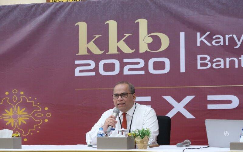 Kepala Perwakilan BI Banten, Erwin Soeriadimadja saat menyampaikan keterangan terkait rencana pelaksanaan 'Karya Kreatif Banten Expo