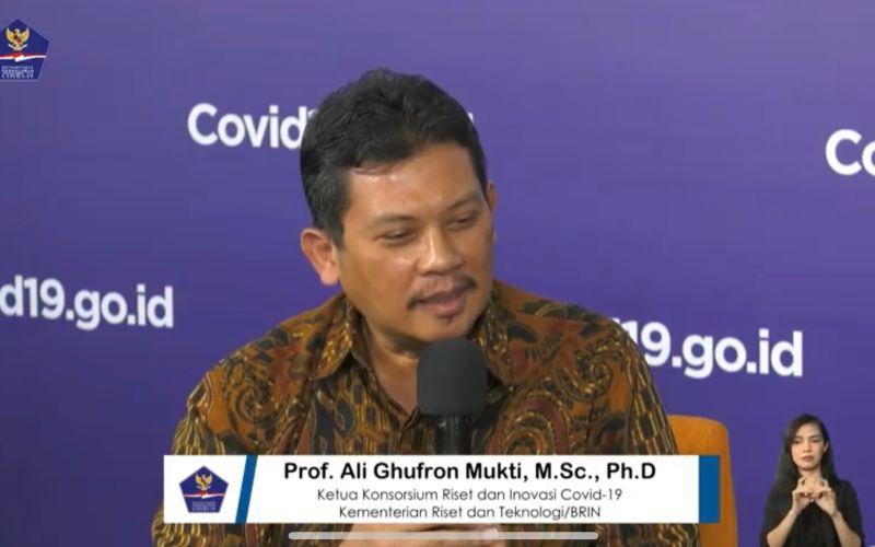 Ketua Konsorsium Riset dan Inovasi Covid-19 Kementerian Riset dan Teknologi/Badan Riset dan Inovasi Nasional Ali Ghufron Mukti - Youtube BNPB