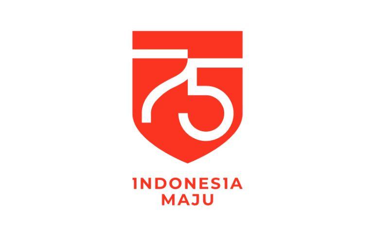 Logo Hari Ulang Tahun Indonesia yang ke/75.