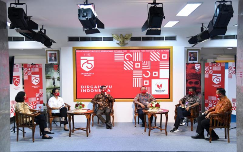 konferensi pers peringatan HUT ke-75 Kemerdekaan RI di Kompleks Istana Kepresidenan, Jakarta, Kamis (6/8/2020). - menpan.go.id.