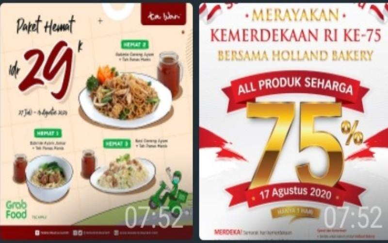 Catat Ini Ragam Promo Kuliner Di Hut Kemerdekaan Ri Traveling Bisnis Com