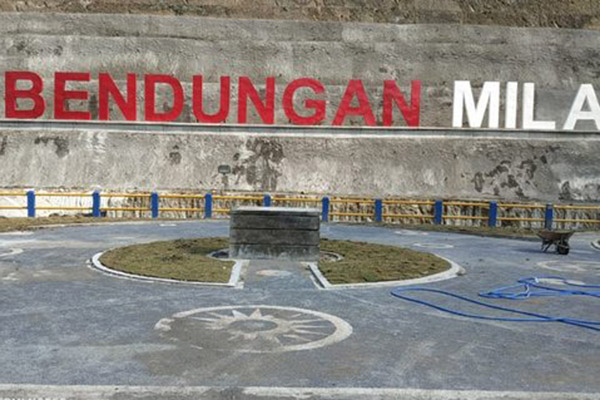 Bendungan Mila di Dompu, Sumbawa, Nusa Tenggara Barat. Gambar diambil pada 18 November 2018. - Istimewa/Kementerian PUPR