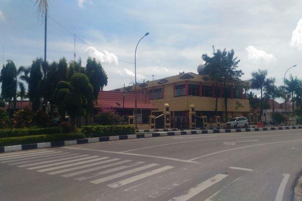 Situasi Markas Polda Riau, Rabu (16/5/2018).-JIBI - Arif Gunawan