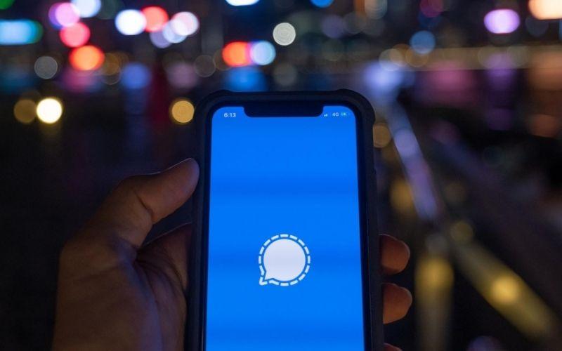 Logo aplikasi Signal / Bloomberg