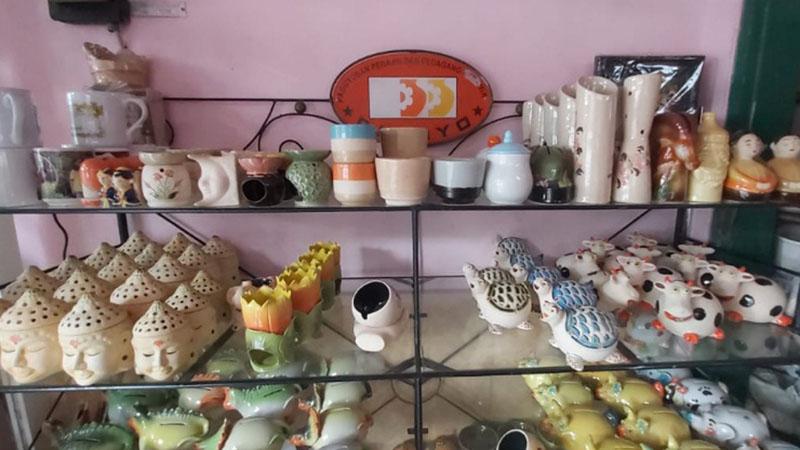 Kerajinan keramik Malang, Jawa Timur. - Bisnis/Reni Lestari