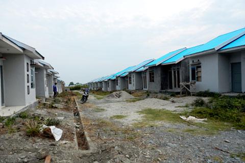 Suasana pembangunan rumah bersubsidi di salah satu lokasi. - Istimewa