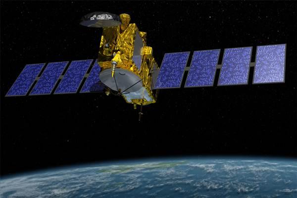 Ilustrasi satelit di luar angkasa.  - NASA