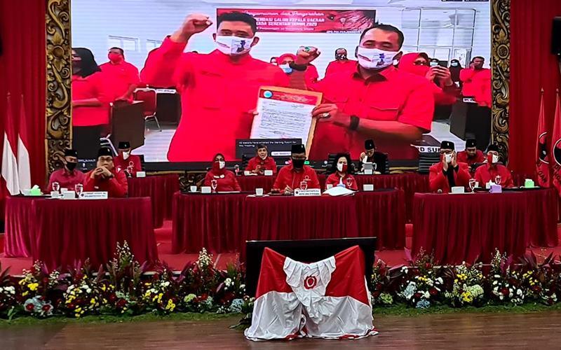 PDIP mencalonkan Bobby Nasution-Aulia Rahma di Pilkada Kota Medan 2020.  - Istimewa