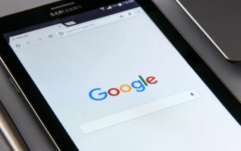 Ilustrasi mesin pencarian Google