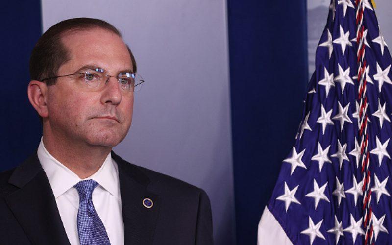 Menteri Kesehatan dan Layanan Masyarakat Amerika Serikat Alex Azar. - Bloomberg