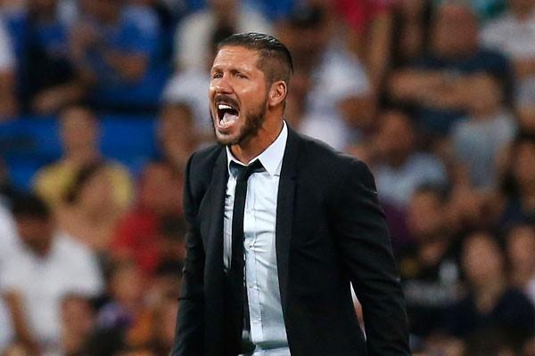 Pelatih Atletico Madrid, Diego Simeone - Reuters/Juan Medina