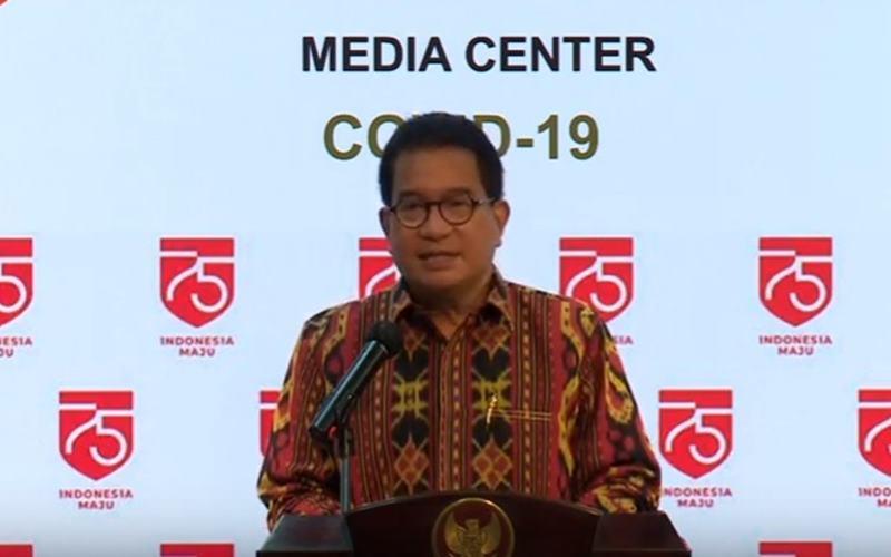 Juru Bicara Satuan Tugas Penanganan Covid-19 Profesor Wiku Adisasmito. - Bisnis/Nancy Junita