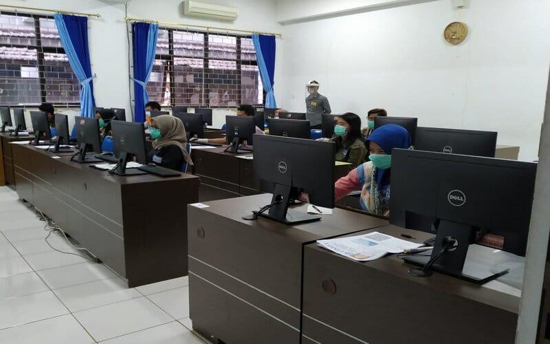 Suasana UTBK di UB (Ujian Tulis Berbasis Komputer) pada Juli lalu. - Istimewa