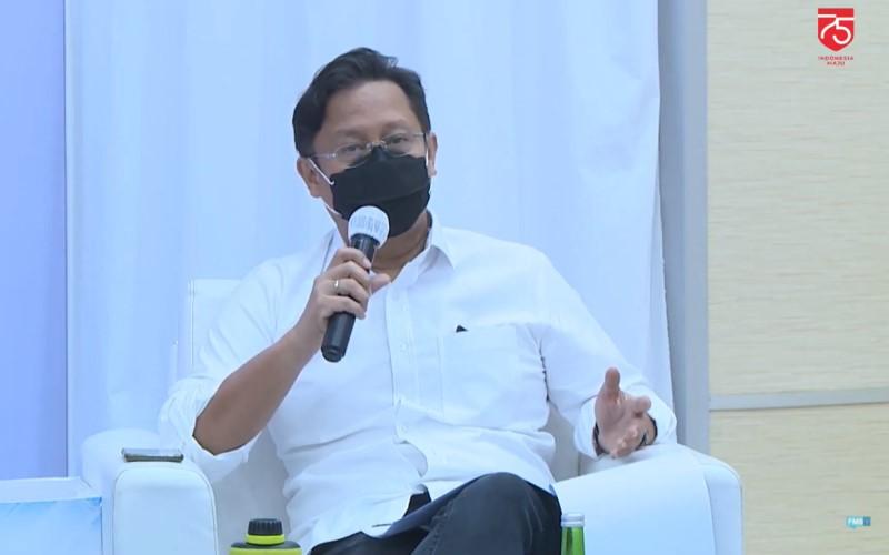 Budi Gunadi Sadikin Ketua Satgas Pemulihan dan Transformasi Ekonomi Nasional dalam diskusi virtual Forum Merdeka Barat 9 bertajuk Optimis Bangkit dari Pandemi di Jakarta, Sabtu (15/8/2020). - Kominfo
