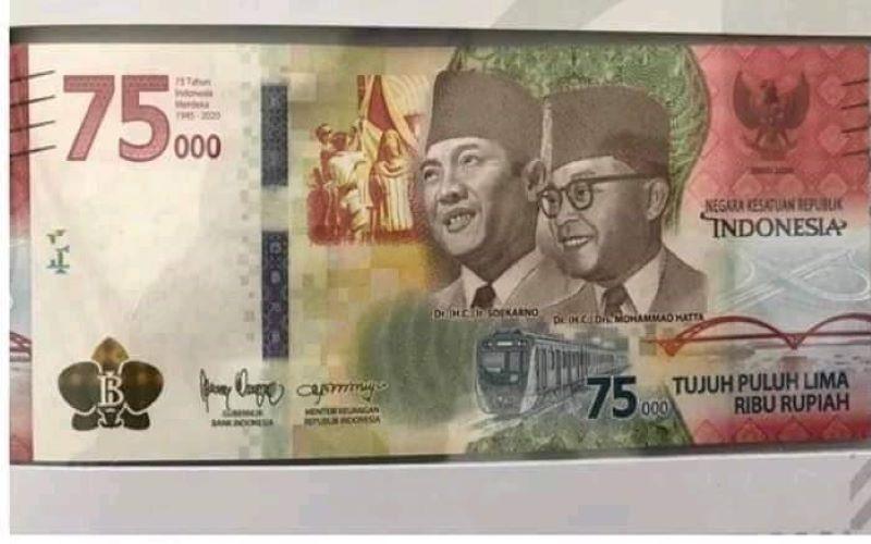Angka Nol Uang Baru Rp75.000 Kecil Banget, Apakah