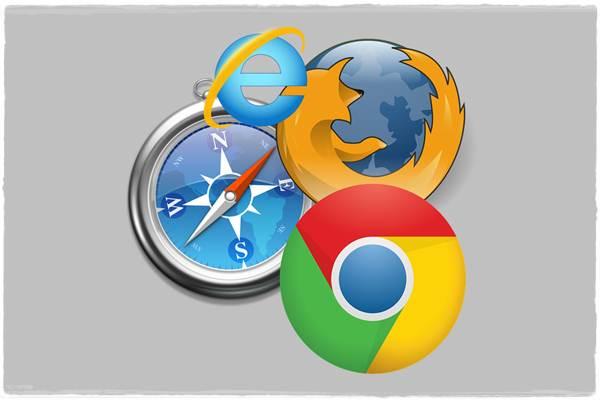 Ilustrasi browser komputer - Creative Commons