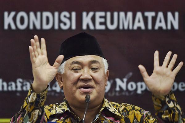Dokumentasi -  Din Syamsuddin, inisiator Koalisi Aksi Menyelamatkan Indonesia (KAMI) - Antara/Puspa Perwitasari