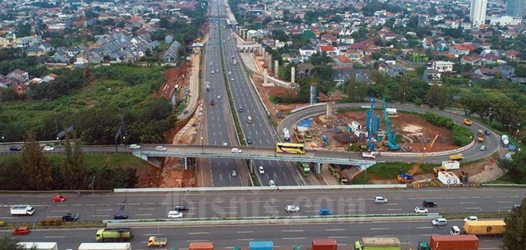 Ilustrasi Pembangunan Jalan Tol. Bisnis - Nurul Hidayat