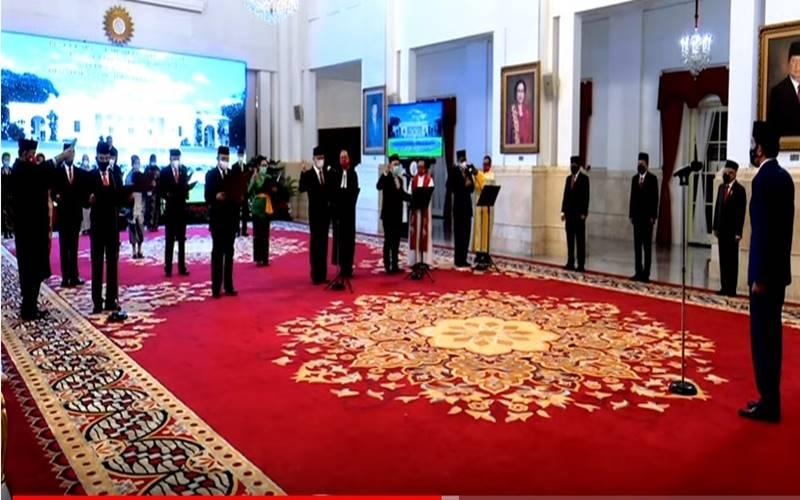 Pelantikan Kompolnas dan Konsil Kedokteran Indonesia, Istana Negara, 19 Agustus 2020. - Youtube@sekretariatpresiden