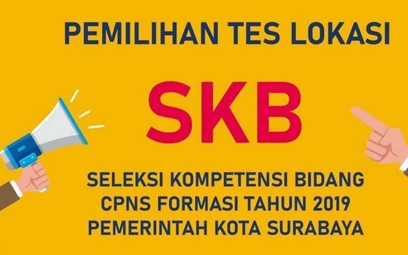 Informsai pemilihan tes lokasi SKB seleksi PNS 2019 di Pemkot Surabaya. - www.surabaya.go.id