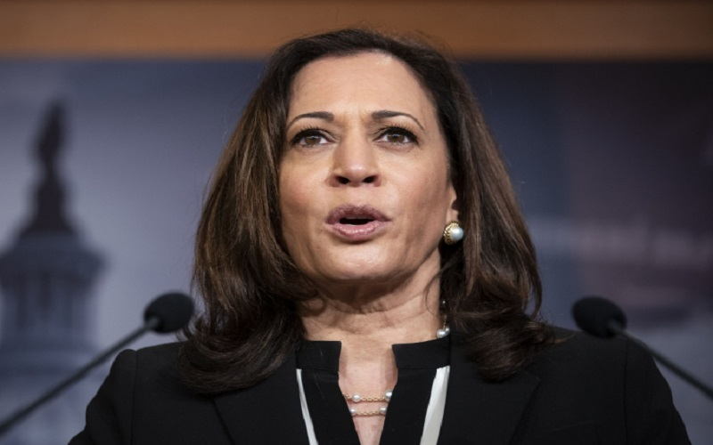 Calon Wakil Presiden AS dari Partai Demokrat Kamala Harris. - Bloomberg.